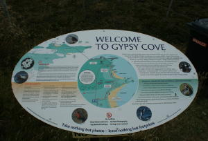 Gypsy Cove Sign