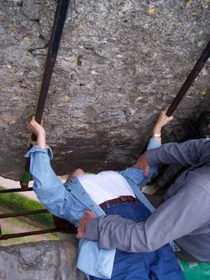 Barb kisses Blarney Stone