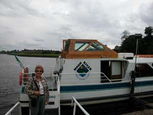 Barb prepares for Shannon River Cruise