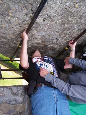 Mark kisses Blarney Stone