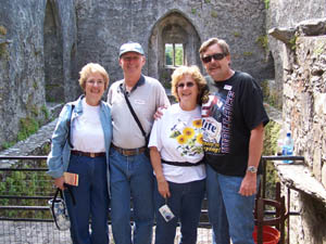 Barb, Fred, Colleen and Mark at Blarney Castle